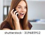 portrait of young surprised... | Shutterstock . vector #319685912