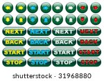 green fluorescent web button set | Shutterstock .eps vector #31968880