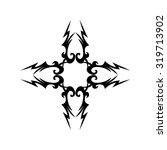 tribal tattoo vector design... | Shutterstock .eps vector #319713902