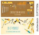 web banner concept of diy shop. ...   Shutterstock .eps vector #319727006