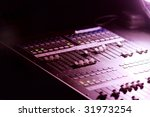 soundboard mixer at a concert... | Shutterstock . vector #31973254