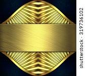 gold metal texture  | Shutterstock . vector #319736102