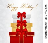 holiday card  christmas card ... | Shutterstock .eps vector #319742525