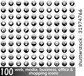 hundred glossy web  media ... | Shutterstock .eps vector #31974766