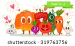 a set of cute vegetable.... | Shutterstock .eps vector #319763756