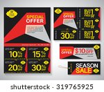 sale flyer  promotions coupon... | Shutterstock .eps vector #319765925