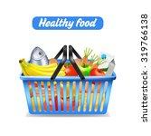 supermarket shopping basket... | Shutterstock .eps vector #319766138