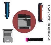 laser printer and print... | Shutterstock .eps vector #319771976