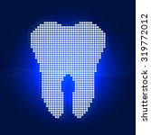 white tooth pixel concept on... | Shutterstock .eps vector #319772012