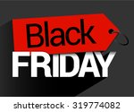 black friday tag sale | Shutterstock .eps vector #319774082
