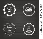 set of easter labels with text... | Shutterstock .eps vector #319777436