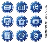 finance web icons  blue circle... | Shutterstock .eps vector #31977826