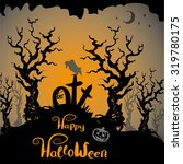 halloween scary background hand ... | Shutterstock .eps vector #319780175
