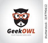geek logo owl owl logo learning ... | Shutterstock .eps vector #319790612
