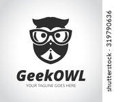 geek logo owl owl logo learning
