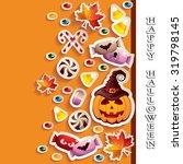 halloween background with... | Shutterstock .eps vector #319798145