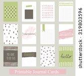 set of vintage creative cards... | Shutterstock .eps vector #319803596