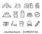 vector camping linear icon set | Shutterstock .eps vector #319805726