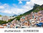 buildings of favela santa marta ...   Shutterstock . vector #319808558