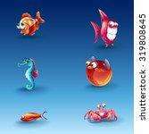 Kit Of Funny Cartoon Fishes