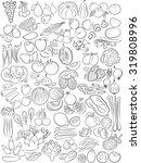 vector illustration of fruits... | Shutterstock .eps vector #319808996