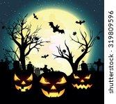 halloween night  vector... | Shutterstock .eps vector #319809596