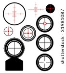 scope sights group   Shutterstock .eps vector #31981087