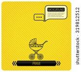 pram icon. newborn stroller...   Shutterstock .eps vector #319812512