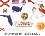 florida icons. set of vector...