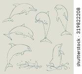 dolphin set collection  vector... | Shutterstock .eps vector #319822208