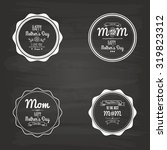 set of labels with text on a... | Shutterstock .eps vector #319823312