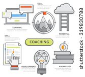 coaching business design... | Shutterstock .eps vector #319830788