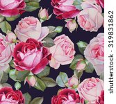 floral seamless pattern with... | Shutterstock . vector #319831862