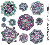 mandalas collection. round... | Shutterstock .eps vector #319835888