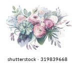 watercolor vintage and rustic... | Shutterstock . vector #319839668