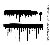 stains of black dripping paint... | Shutterstock .eps vector #319840322