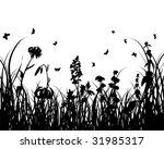 vector grass silhouettes...   Shutterstock .eps vector #31985317