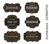 vintage  calligraphic  frames... | Shutterstock .eps vector #319864742