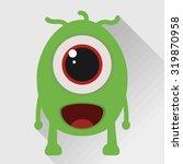 cute green monster.flat icon. | Shutterstock .eps vector #319870958