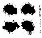 black and white ink splat icon... | Shutterstock .eps vector #31988773