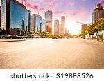 city road on sunset in beijing. | Shutterstock . vector #319888526