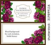 vintage delicate invitation... | Shutterstock .eps vector #319899116