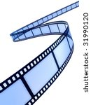 curved photographic film | Shutterstock . vector #31990120