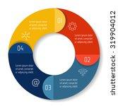vector round infographic... | Shutterstock .eps vector #319904012