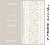 vintage invitation card with... | Shutterstock .eps vector #319904312