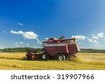 Modern Farm Combine Harvester...
