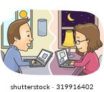illustration of a couple in a... | Shutterstock .eps vector #319916402