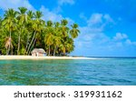 paradise tropical island in... | Shutterstock . vector #319931162