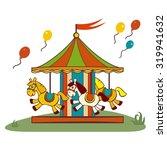 carousel horses  raster flat... | Shutterstock . vector #319941632