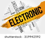 electronic word cloud  business